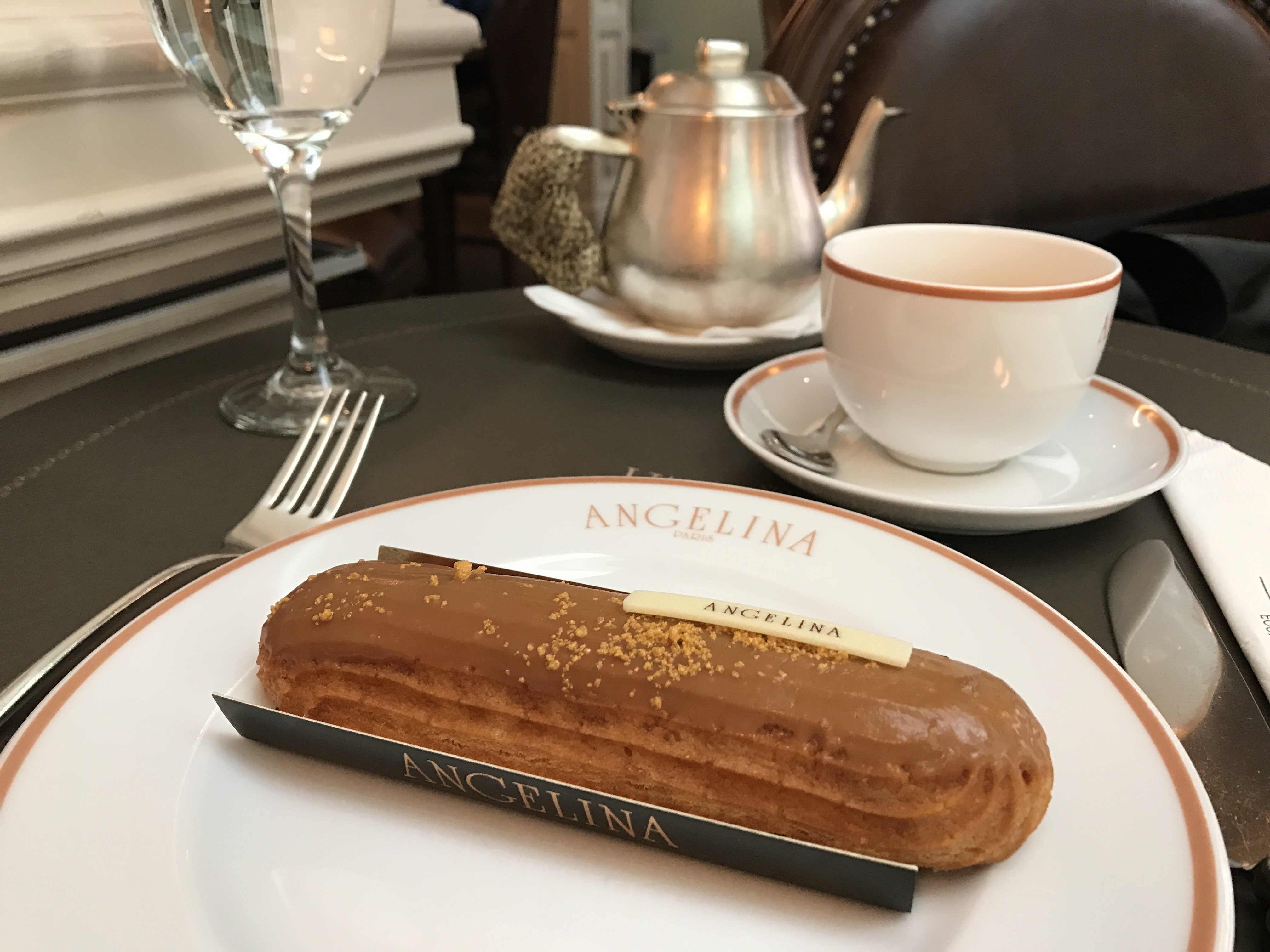 Afternoon coffee and cake at Angelina tea house